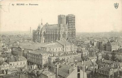 """CPA FRANCE 51 """"Reims, panorama"""""""
