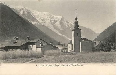 """CPA FRANCE 74 """"Argentière et le Mont Blanc"""""""