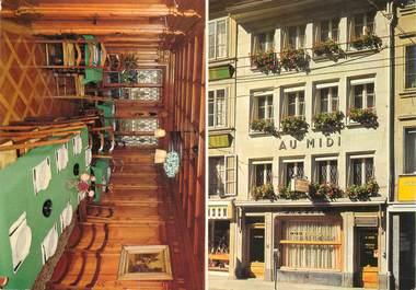 """CPSM   SUISSE  """"Fribourg, Café du Midi"""""""