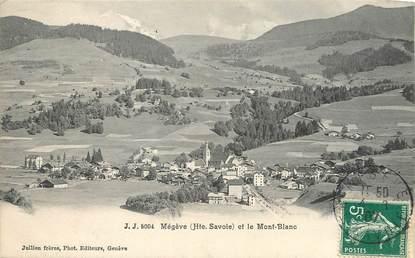 """/ CPA FRANCE 74 """"Megève, et le Mont Blanc"""""""