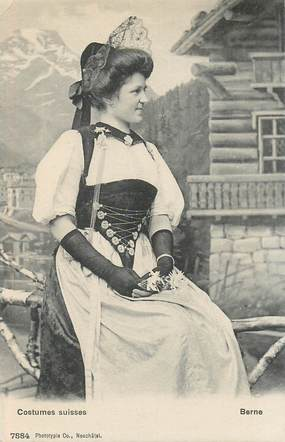 """CPA  SUISSE   """"Berne, costume suisse"""""""