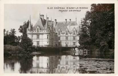 "CPA FRANCE 37 ""Le Chateau d'Azay le Rideau, façade orientale"""