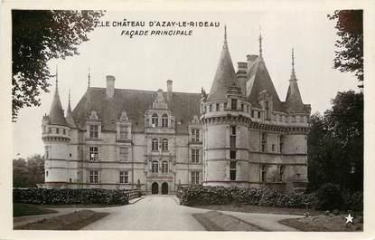 """CPA FRANCE 37 """"Le Chateau d'Azay le Rideau, façade principale"""""""