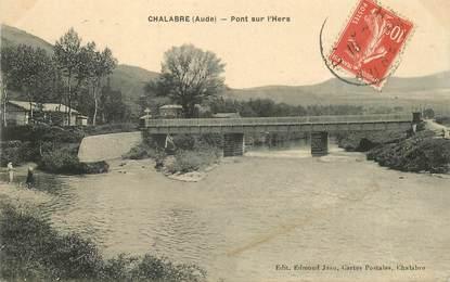 """CPA FRANCE 11 """"Chalabre, le pont sur l'Hers"""""""