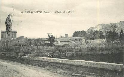 """CPA FRANCE 26 """"Pierrelatte, l'Eglise et le rocher"""""""