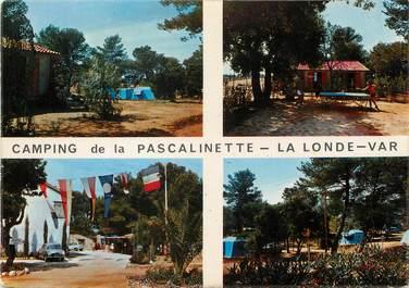 """/ CPSM FRANCE 83 """"La Londe Les Maures, camping de la Pascalinette"""""""