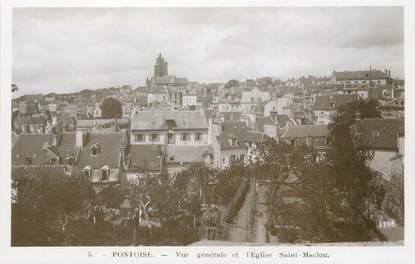 """/ CPSM FRANCE 95 """"Pontoise, vue générale et l'église Saint Maclou"""""""
