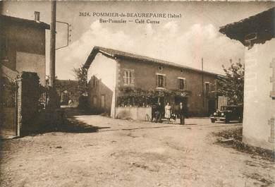 """CPA FRANCE 38 """" Pommier de Beaurepaire, Café Carras"""""""