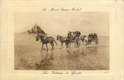 """CPA FRANCE 50 """"Le Mont Saint Michel"""" / ATTELAGE"""