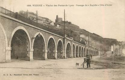 """CPA FRANCE 38 """"Vienne, viaduc des Portes de Lyon"""""""