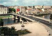 """17 Charente Maritime / CPSM FRANCE 17 """"Saintes, le pont Palissy sur la Charente"""""""