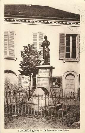 "CPA FRANCE 39 ""Conliège, monument aux morts"""