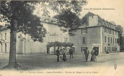 """/ CPA FRANCE 64 """"Saint Christau, hôtels du Mogol et de la poste"""""""