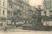 """25 Doub CPA FRANCE 25 """"Besançon, fontaine de la place Bacchus"""" / TRAMWAY"""