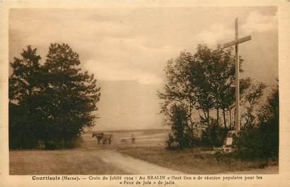 """CPA FRANCE 51 """"Courtisols, Croix du Jubilé 1934"""""""