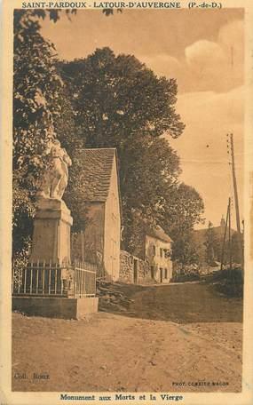 """/ CPA FRANCE 63 """"Saint Pardoux Latour d'Auvergne"""""""