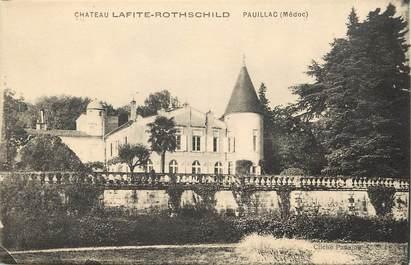 "CPA FRANCE 33 ""Chateau Lafite Rothschild, Pauillac"""