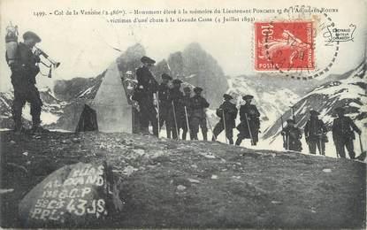"""/ CPA FRANCE 73 """"Col de la Vanoise, monument élevé à la mémoire du lieutenant Porcher"""""""