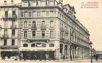 "CPA FRANCE 90 ""Belfort, le Grand Hôtel du Tonneau d'Or"""