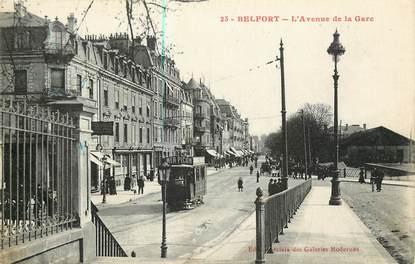 """CPA FRANCE 90 """"Belfort, avenue de la gare"""""""