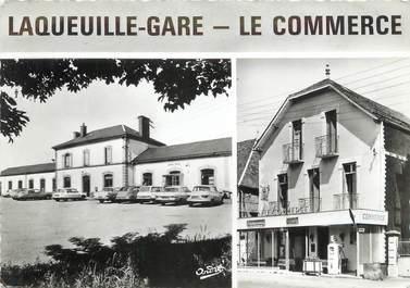 "/ CPSM FRANCE 63 ""Laqueuille Gare, le commerce"""