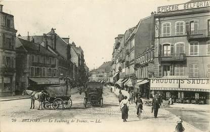 """CPA FRANCE 90 """"Belfort, le faubourg de France"""""""