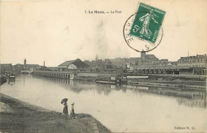 """/ CPA FRANCE 72 """"Le Mans, le port"""" / Ed. N G"""