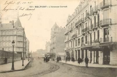 """CPA FRANCE 90 """"Belfort, l'avenue Carnot"""""""