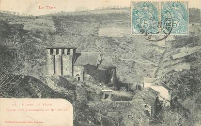 """/ CPA FRANCE 81 """"Eglise de Lasplanques du XIème siècle"""" / Ed. Labouche"""
