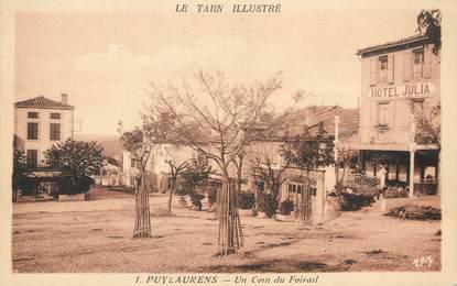 """/ CPA FRANCE 81 """"Puylaurens, un coin du Foirail"""""""