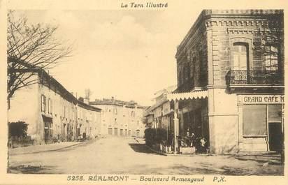 """/ CPA FRANCE 81 """"Réalmont, Boulevard Armengaud"""" / Le Tarn Illustré"""