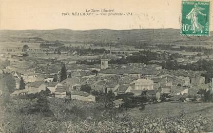 """/ CPA FRANCE 81 """"Réalmont, vue générale"""" / Le Tarn Illustré"""