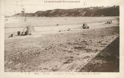 """/ CPA FRANCE 22 """"Binic, les falaises de Pordic et la plage de la Banche"""""""
