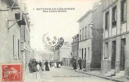"/ CPA FRANCE 76 ""Sotteville lès Rouen, rue Ledru Rollin"""