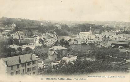 """/ CPA FRANCE 64 """"Biarritz, vue générale"""" / BIARRITZ ARTISTIQUE"""
