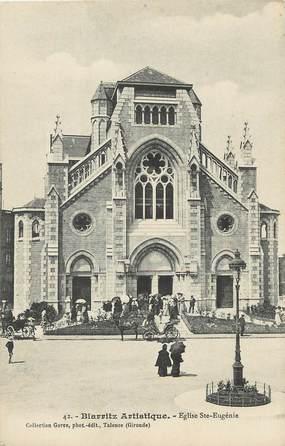 "/ CPA FRANCE 64 ""Biarritz, Eglise Sainte Eugénie"" / BIARRITZ ARTISTIQUE"