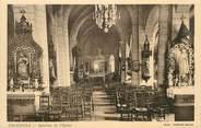 """12 Aveyron / CPA FRANCE 12 """"Cruejouls, intérieur de l'église"""""""