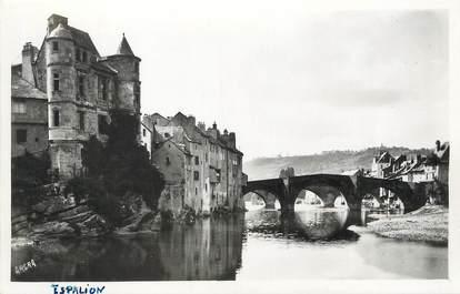 """/ CPSM FRANCE 12 """"Espalion, ancien palais et pont Gothique"""""""