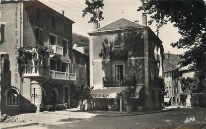 """/ CPSM FRANCE 12 """"Saint Jean du Bruel,, la place"""""""