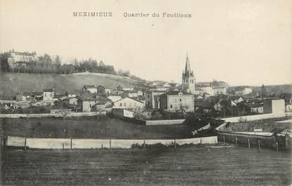 """/ CPA FRANCE 01 """"Meximieux, quartier du Fouilloux"""""""