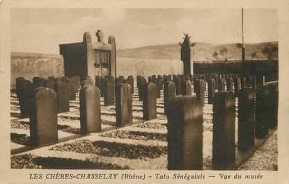 "/ CPA FRANCE 69 ""les Chères Chasselay, tata Sénégalais"""