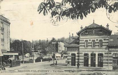 "/ CPA FRANCE 92 ""Meudon Val Fleury, la gare"""