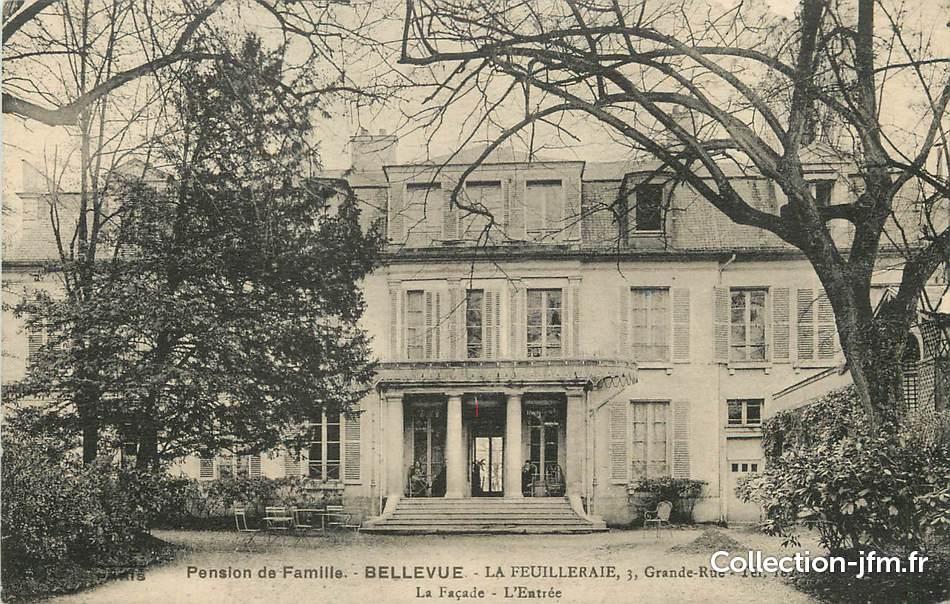 Cpa france 92 meudon pension de famille bellevue 92 for 92 haute seine