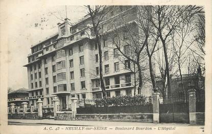 "/ CPA FRANCE 92 ""Neuilly  sur Seine, Bld Bourdon, l'hôpital"""