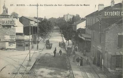 """/ CPA FRANCE 92 """"Rueil, avenue du chemine de fer, quartier de la gare"""""""