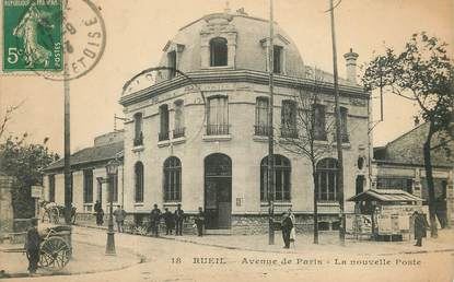 """/ CPA FRANCE 92 """"Rueil, avenue de Paris, la nouvelle poste"""""""