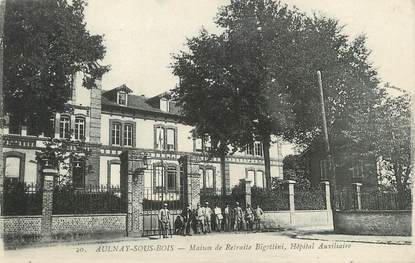 """/ CPA FRANCE 93 """"Aulnay sous Bois, maison de retraite Bigottini, hôpital auxiliaire"""""""