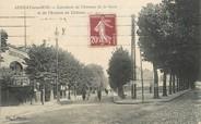 """93 Seine Saint Deni / CPA FRANCE 93 """"Aulnay sous Bois, carrefour de l'avenue de la gare et l'av du château"""""""