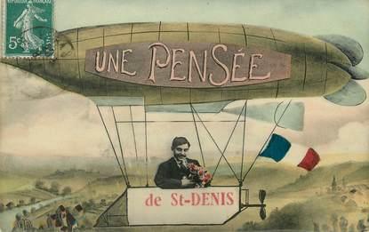 """/ CPA FRANCE 93 """"une pensée de Saint Denis"""""""