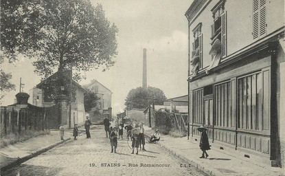 """/ CPA FRANCE 93 """"Stains, rue Romaincour"""""""
